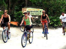 bicicling in riviera maya