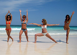 yoga on the beach riviera maya