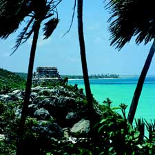 Beaches of the Riviera Maya, near Playa Del Carmen and the Tulum Ruins