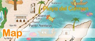 map playa del carmen