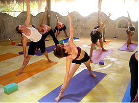 yoga at bikini boot camp