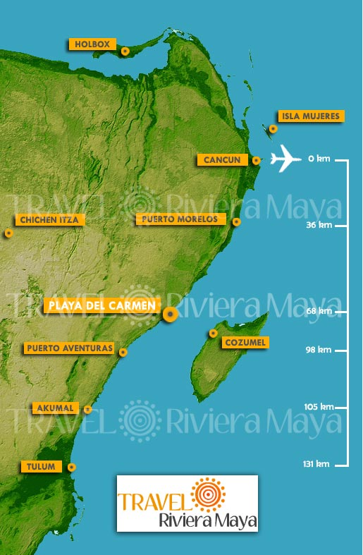 Maps of Playa Del Carmen and Riviera maya